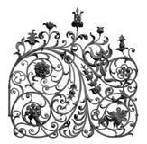Estrutura decorativa forjada Imagens de Stock Royalty Free