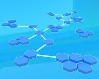 Estrutura do átomo Imagem de Stock