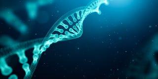 Estrutura do ADN sobre o fundo abstrato Fotos de Stock Royalty Free