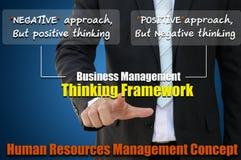Estrutura do conceito da gestão empresarial imagens de stock