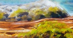 Estrutura do log de madeira coberta com o musgo no beira-rio, detalhe da pintura do close up Foto de Stock Royalty Free