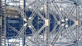 Estrutura do metal da ponte de Quebeque foto de stock