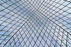 Estrutura do metal e do vidro imagem de stock