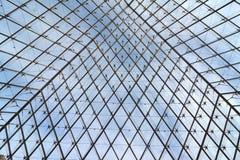 Estrutura do metal e do vidro foto de stock royalty free