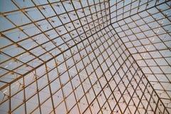 Estrutura do metal e do vidro imagens de stock