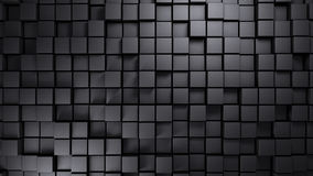 Estrutura do metal feita do fundo deslocado dos cubos Fotografia de Stock Royalty Free