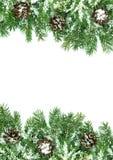 Estrutura do Natal com neve fotografia de stock royalty free