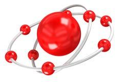 Estrutura do oxigênio em um fundo branco Fotos de Stock Royalty Free