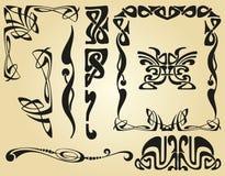 Estrutura do projeto de Art Nouveau ilustração stock
