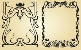 Estrutura do projeto de Art Nouveau Imagens de Stock