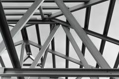 Estrutura do telhado de aço imagens de stock royalty free
