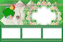 Estrutura do verão com flores Fotos de Stock Royalty Free