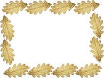 Estrutura dourada do carvalho ilustração do vetor