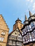 Estrutura em Alsfeld, cidade histórica velha, Alemanha foto de stock