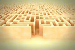 Estrutura enorme do labirinto do vintage com entrada Imagens de Stock Royalty Free