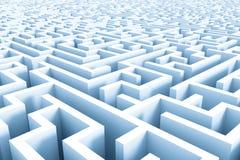 Estrutura enorme do labirinto dos azuis celestes Imagens de Stock Royalty Free