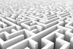 Estrutura enorme do labirinto nos grayscales Foto de Stock Royalty Free