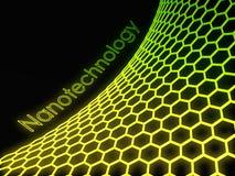 estrutura fluorescente verde do graphene 3D Imagens de Stock Royalty Free