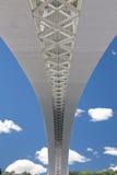 Estrutura geométrica da ponte fotografia de stock