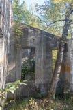 Estrutura histórica no plano Bouchard Ruines Imagem de Stock