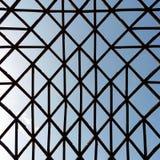 Estrutura incomum geométrica com as barras de madeira cruzadas Imagens de Stock
