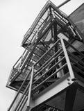 Estrutura industrial da escada Imagem de Stock