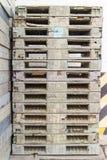 Estrutura lisa do transporte do patim de madeira da pálete que apoia quando seja Imagem de Stock