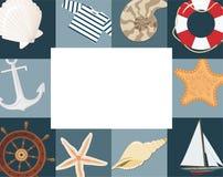 Estrutura marinha Imagens de Stock Royalty Free