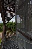 Estrutura metálica da torre de vigia em Anyksciai Lituânia Fotos de Stock Royalty Free