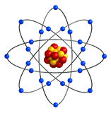 Estrutura atômica Imagens de Stock