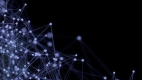 Estrutura microscópica azul das moléculas Imagem de Stock