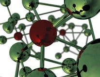 Estrutura molecular abstrata Imagens de Stock