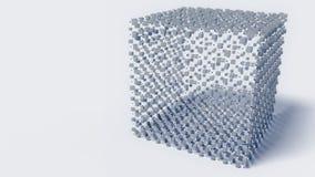 Estrutura molecular abstrata do cubo ilustração do vetor