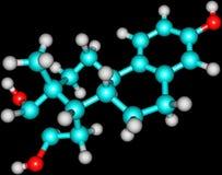 Estrutura molecular do Estriol Foto de Stock