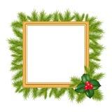 Estrutura para a foto com filial da árvore Imagens de Stock Royalty Free