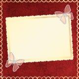Estrutura para uma foto ou convites. Imagens de Stock Royalty Free