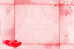 Estrutura para Valentim do dia Fotografia de Stock Royalty Free