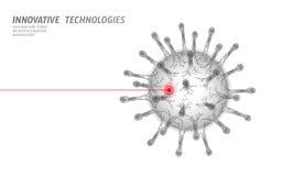 Estrutura poli da pilha do vírus baixa Conceito dos cuidados médicos da medicina da infecção da doença ilustração royalty free