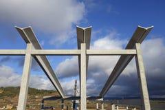 Estrutura pré-fabricada na construção Imagem de Stock Royalty Free