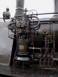 estrutura principal do tubo de caldeira do trem velho do vapor Foto de Stock Royalty Free
