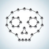 Estrutura química ilustração stock