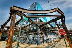 Estrutura restante de uma fábrica de tratamento da carne, dist do Meatpacking Foto de Stock Royalty Free