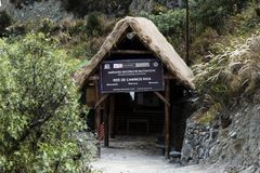 Estrutura vazia da cabeça de fuga ao Peru de Machu Picchu Fotos de Stock