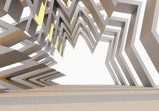 Estrutura vazia interior Imagens de Stock Royalty Free