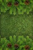 Estrutura verde do Natal Fotografia de Stock
