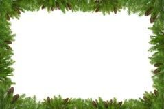 Estrutura verde do Natal imagem de stock royalty free