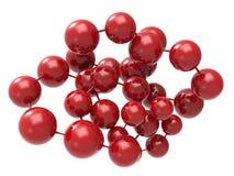 Estrutura vermelha da molécula Fotografia de Stock