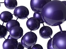 Estrutura violeta da molécula Foto de Stock Royalty Free
