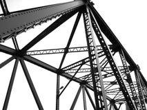 Estrutural preto e branco da ponte imagem de stock royalty free