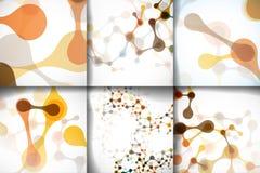 Estruturas bonitas ajustadas da molécula do ADN Fotografia de Stock